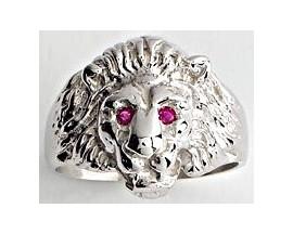 Chevalière tête de lion argent Lucas Lucor - A101R