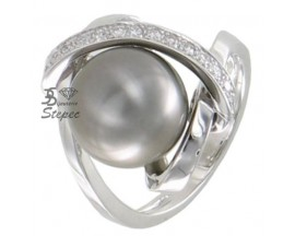 Bague perle de Tahiti & diamant(s) or Stepec - A1239T-G