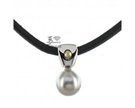 Collier perle acier Stepec - aIPB