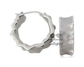 Boucles d'oreilles créoles argent Charles Garnier - ACGRL68020