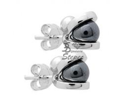 Boucles d'oreilles boutons argent Jourdan - AJS085