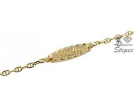 Bracelet gourmette identité or Lucas Lucor - BB10