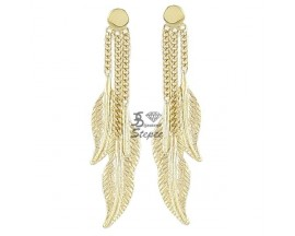 Boucles d'oreilles pendants or Ballet - BE1018CNJ00