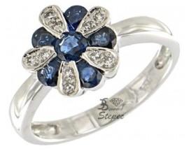 Bague or saphir(s) et diamant(s) Stepec - brlJPBg