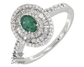Bague or émeraude & diamant(s) H.Gringoire - BS 1540 EF/BTS