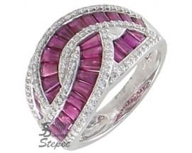 Bague or rubis & diamant(s) H.Gringoire - BS 1602 RF/BTS