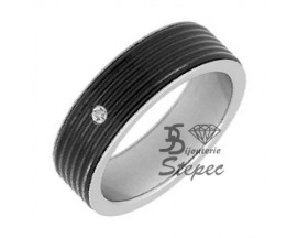 Bague acier et céramique Jourdan - DK337H