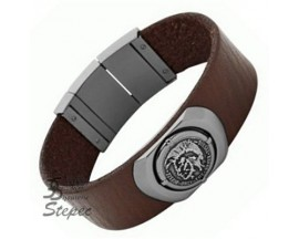 Bracelet cuir & acier Diesel - DX0798060