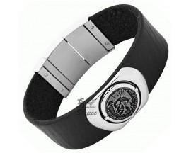 Bracelet cuir & acier Diesel - DX0799040