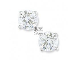 Boucles d'oreilles boutons diamant(s) or Girard - EA201NGB2