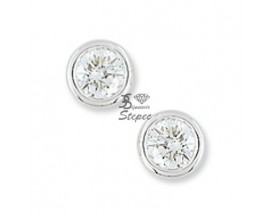 Boucles d'oreilles boutons diamant(s) or Girard - EA203HGB2