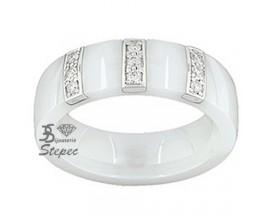 Bague or céramique et diamants Jeell - FF010GCBB