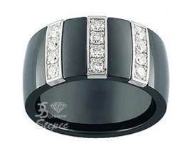 Bague or céramique et diamants Jeell - FF011GCNB