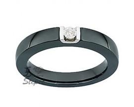 Solitaire or céramique et diamant Jeell - FK014GCNB
