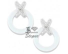 Boucles d'oreilles boutons or Céramique K Diamant - FK315GCBB