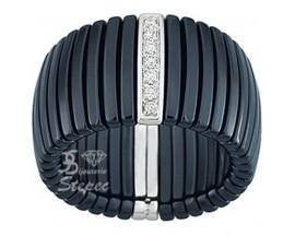 Bague or céramique et diamants Jeell - FL012GCNB