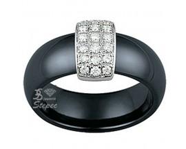 Bague or céramique et diamants Jeell - FL050GCNB