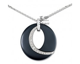 Collier empierré or céramique et diamants Jeell - FM507GCNB