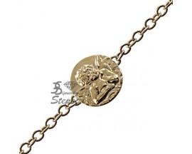 Bracelet gourmette identité or Lucas Lucor - FUR1259