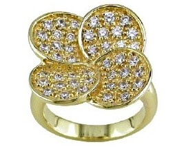 Bague empierrée plaqué or GL Paris - Altesse - 15018640100