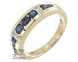 Bague or saphir(s) & diamant(s) H.Gringoire - KBS 4098 SF/DTS