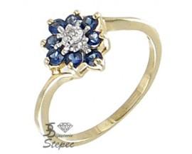 Bague or saphir(s) & diamant(s) H.Gringoire - KBS 4099 SF/DT