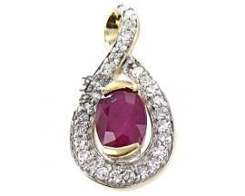 Pendentif or rubis & diamant(s) H.Gringoire - LT 2726 RF/DTS