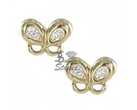 Boucles d'oreilles boutons or Stepec - N10091