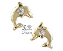 Boucles d'oreilles boutons or Stepec - N6601