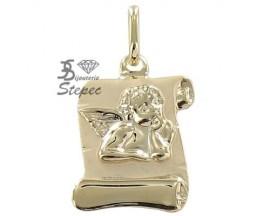 Médaille ange or Stepec - N8621