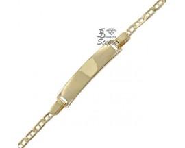 Bracelet gourmette identité or Stepec - nEOUS