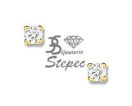 Boucles d'oreilles boutons diamant(s) or Christian Bernard - OK205JB4