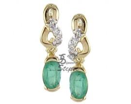 Boucles d'oreilles pendants or émeraude(s) & diamant(s) H.Gringoire - PV 605 EF/DTS