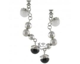 Boucles d'oreilles pendants acier ligne Boule Miss Sixty - SMQI04