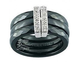 Bague céramique & or Guy Laroche Joaillerie - TI017GCNB