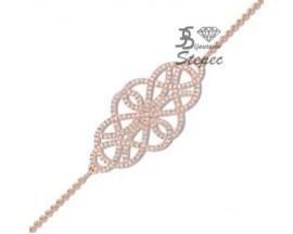Bracelet plaqué or rose empierré EOL Paris - TSBL68Z18