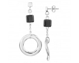 Boucles d'oreilles pendantes acier & céramique Ceranity - 904-070.N