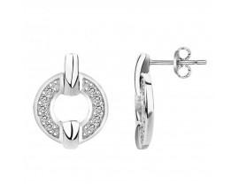 Boucles d'oreilles boutons argent Phebus - 70400137