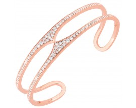 Bracelet rigide plaqué or rose empierré Element of Life - TSBL65Z