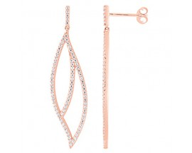 Boucles d'oreilles plaqué or rose Element of Life - TSWL72Z