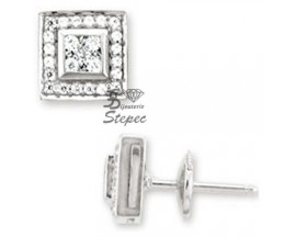 Boucles d'oreilles boutons or & diamant(s) Robbez Masson - 2.2023.31