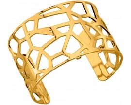 Bracelet manchette Les Georgettes - Girafe finition or 40 mm