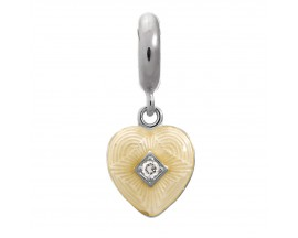 Charm argent Endless JLO White Big Heart - 1350-2