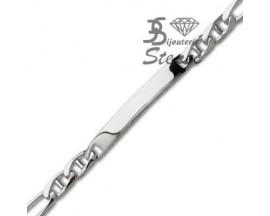 Bracelet gourmette identité argent Robbez Masson - 204061.00