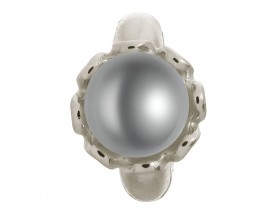 Charm argent Endless Grey Pearl Flower - 41250-3