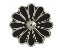 Charm argent Endless Black Daisy - 41255-2