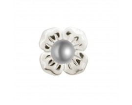 Charm argent Endless Big Grey Pearl Flower - 41350-3