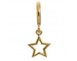 Charm argent plaqué or jaune Endless Star - 53204