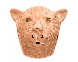 Charm argent plaqué or rose Endless Leopard - 61400