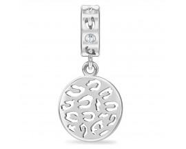 Charm argent Endless JLO Leopard Coin - 1303